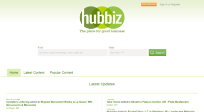 hub.biz - latest s from businesses on hubbiz