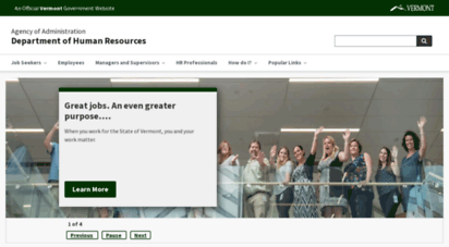 humanresources.vermont.gov - home  department of human resources