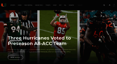 hurricanesports.com - university of miami hurricanes official athletic site