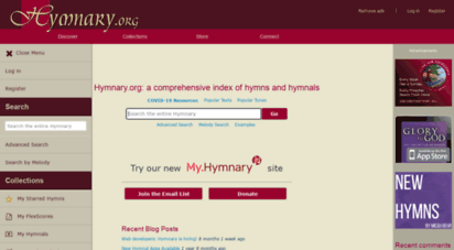 hymnary.org - hymnary.org: a comprehensive index of hymns and hymnals  hymnary.org