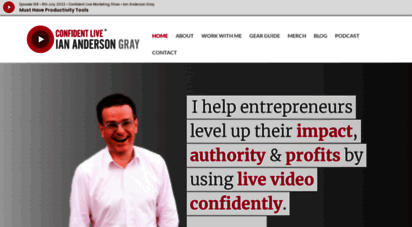 iag.me - ian anderson gray  confident live marketing coach  seriously social