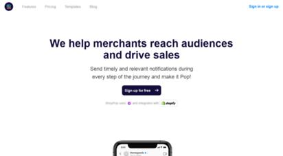 iampop.com - home, pop - start conversations that grow your business.