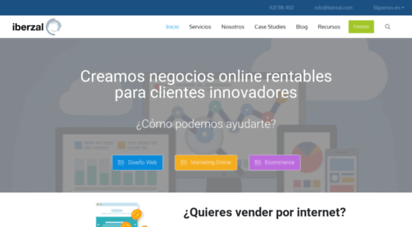 iberzal.com - diseño web y posicionamiento web  iberzal tecnología s.l.