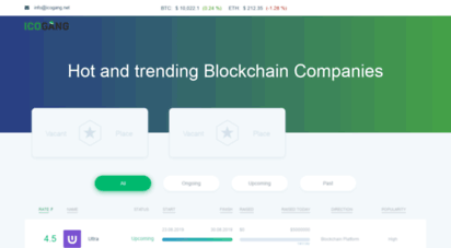 icogang.net - ico gang - best ico list, calendar, rating. ultimate rated icos