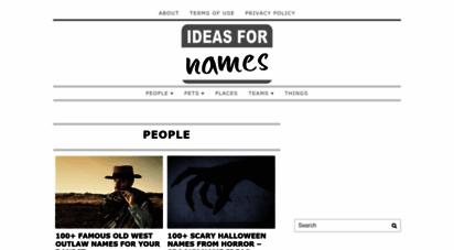 ideasfornames.com -