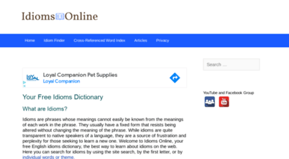 idioms.online - idioms online  your free english idioms dictionary