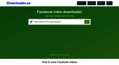 idownloader.co - facebook video downloader - download facebook videos online
