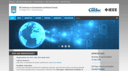 ieee-cns.org - ieee cns 2020  ieee conference on communications and network security  29 june - 1 july 2020 // virtual conference