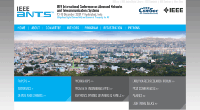 ieee-comsoc-ants.org - 2019 ieee ants ieee ants - ieee international conference on advanced networks and telecommunications systems