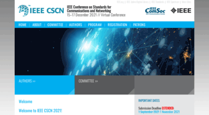 ieee-cscn.org - welcome to ieee cscn 2019! - ieee conference on standards for communications and networking