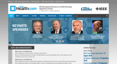 ieee-healthcom.org - ieee healthcom 2020 - ieee international conference on e-health networking, application & services  tbd // virtual conference