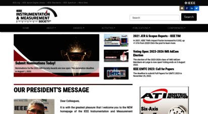 ieee-ims.org - instrumentation & measurement society  to measure is to know