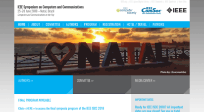 ieee-iscc.org - ieee symposium on computers and communications - 25-28 june 2018 - natal, brazil