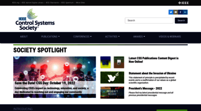 ieeecss.org - ieee control systems society