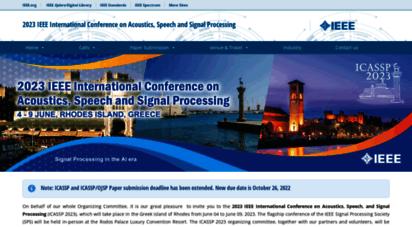 ieeeicassp.org - home - icassp 2020