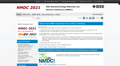 ieeenmdc.org - ieee nmdc - nanotechnology materials and devices conference ieee nmdc