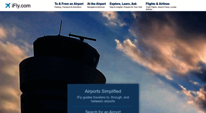 ifly.com - airport guides  flight tracking & status, airport parking, maps & more