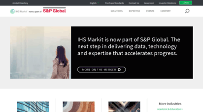 ihsmarkit.com - ihs markit  leading source of critical information