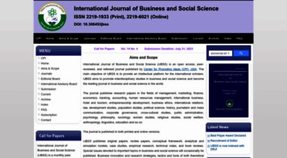 ijbssnet.com - international journal of business and social science