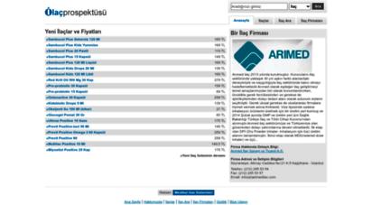 ilacprospektusu.com - ilaç prospektüsü - ilaçlar, ilaç fiyatları ve ilaç firmaları