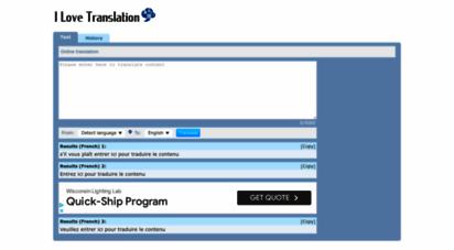 ilovetranslation.com - i love translation - online translation