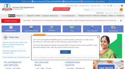 incometaxindia.gov.in - home - central board of direct taxes, government of india