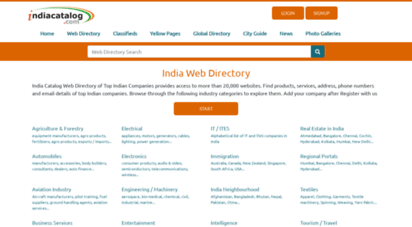 indiacatalog.com - indiacatalog india web directory, india companies database. free classifieds, india news, automobiles, hotels, health, it/ites/bpo, agriculture, logistics and real estate directories. india city guide. marketing lists.