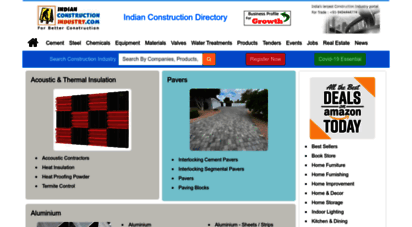 indianconstructionindustry.com - indian construction industry directory :: steel directory, cement directory, construction equipment, materials, consultants, construction topics, real estate india, water treatment system, tenders and jobs, construction chemicals