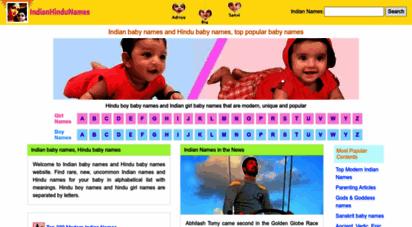 indianhindunames.com - 10000 beautiful unique indian baby names and hindu baby names
