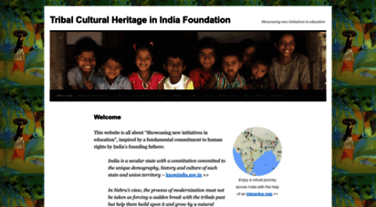 indiantribalheritage.org - tribal cultural heritage in india foundation  showcasing new initiatives in education