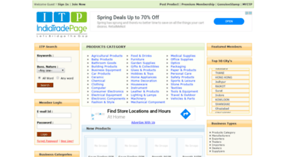 indiatradepage.com - india trade pages & business directory of indian ,chinese exporters manufacturers importers service providers