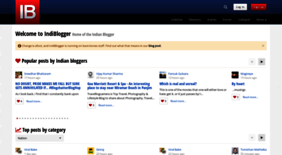 indiblogger.in - biggest indian blog directory and popular blogger community - indiblogger.in
