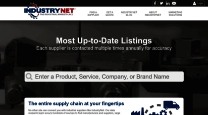 industrynet.com - industrynet® - machinery, parts, supplies, services - industrial marketplace - buyers guide directory