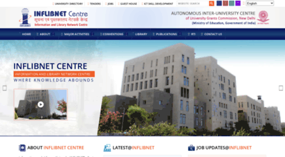 inflibnet.ac.in - inflibnet centre gandhinagar