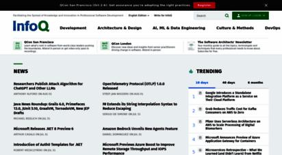 infoq.com - infoq: software development news, videos & books