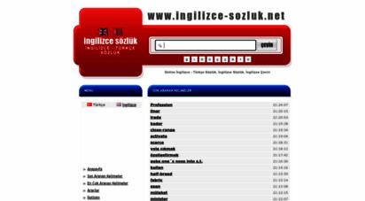 ingilizce-sozluk.net - ingilizce sözlük, ingilizce - türkçe sözlük, online ingilizce çeviri