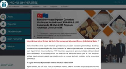 inonu.edu.tr - inönü üniversitesi
