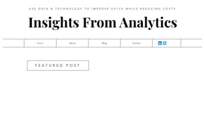 insightsfromanalytics.com - home  insights from anlytics