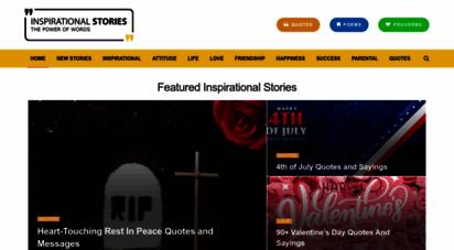 inspirationalstories.com - inspirational stories, quotes & poems  short inspirational readings