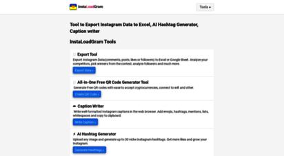 instaloadgram.com - all-in-one instagram downloader & instagram marketing tools.  instaloadgram