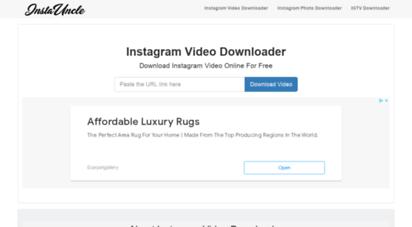 instauncle.com - instagram video downloader - download instagram videos online