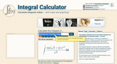 integral-calculator.com - integral calculator • with steps!