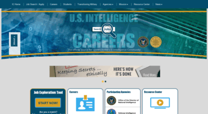 intelligencecareers.gov - intelligence careers  jobs in the u.s. intelligence community