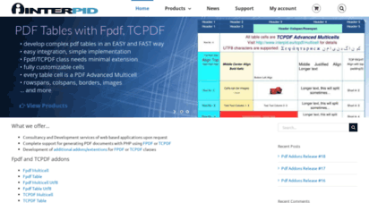 Welcome to Interpid eu - PHP Fpdf Add-ons And Other Extensions For