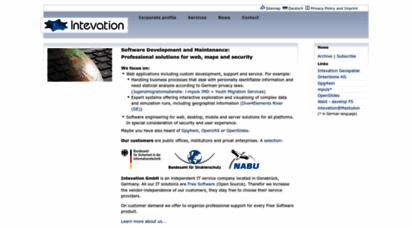 intevation.org - intevation: main page