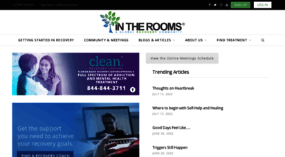 intherooms.com - in the rooms: an online addiction recovery community