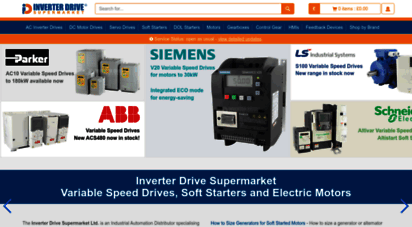 inverterdrive.com - inverter drive supermarket - variable speed drives for electric motor speed control