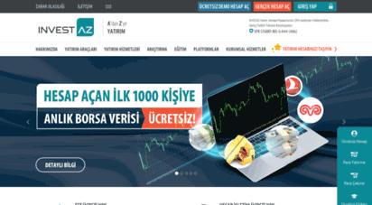 investaz.com.tr - a´dan z´ye yatırım - forex, cfd, futures, hisse, viop  investaz