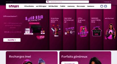 inwi.ma - inwi - opérateur téléphonique mobile, fixe & internet au maroc  inwi