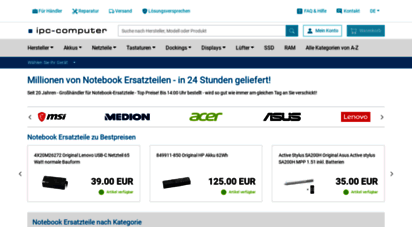 ipc-computer.de - notebook ersatzteile bei ipc-computer.de